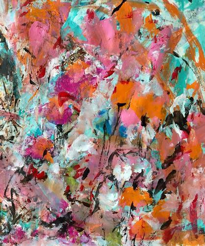 Christel Haag, Spring Flowers 1, Abstraktes, Pflanzen: Blumen, Gegenwartskunst