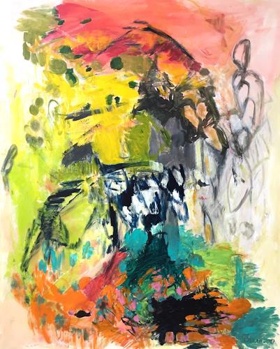 Christel Haag, Überm Berg, Abstraktes, Gegenwartskunst