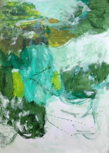Christel Haag, Sommer in der Normandie, Abstraktes, Diverse Landschaften, Gegenwartskunst