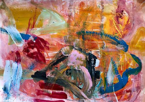 Mit Speck Fangt Man Mause Von Christel Haag Abstraktes Malerei