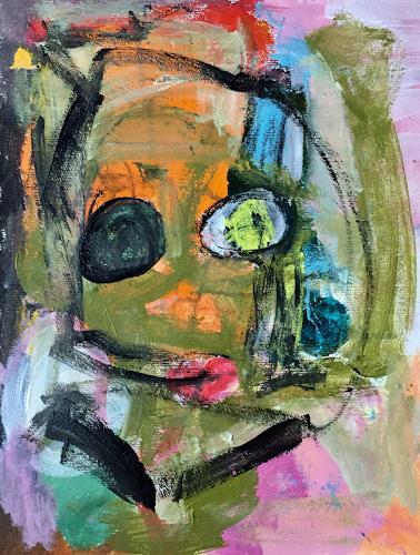 Christel Haag, Kiss me, Abstraktes, Gegenwartskunst