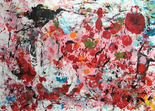 Christel Haag, Erdbeermond, Abstraktes, Gegenwartskunst