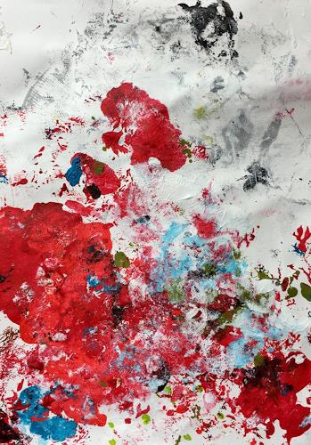 Christel Haag, Himbeeren zum Frühstück, Abstraktes, Gegenwartskunst