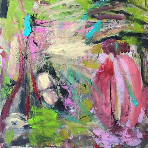 Christel Haag, Silently, Abstraktes, Gegenwartskunst, Abstrakter Expressionismus