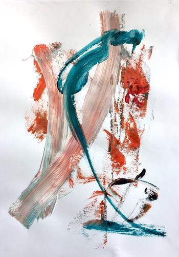 Christel Haag, Over There 1, Abstraktes, Gegenwartskunst, Expressionismus