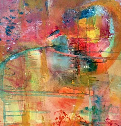 Christel Haag, Blütenzauber, Abstraktes, Pflanzen: Blumen, Gegenwartskunst, Abstrakter Expressionismus