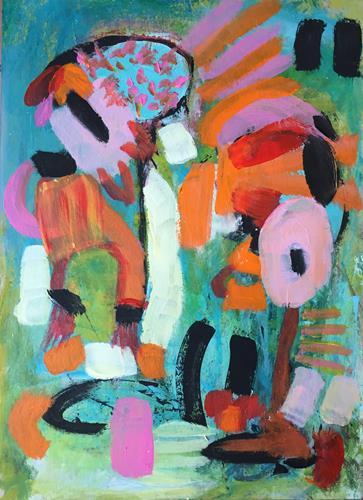 Christel Haag, My Buddy and Me, Abstraktes, Gegenwartskunst