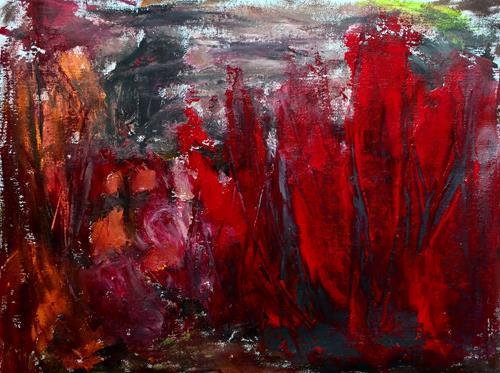 Christel Haag, Beyond the Time, Abstraktes, Natur, Gegenwartskunst, Abstrakter Expressionismus