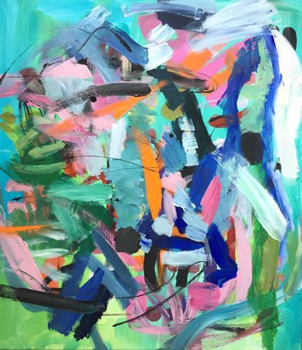Christel Haag, Saturday Morning, Abstraktes, Gegenwartskunst