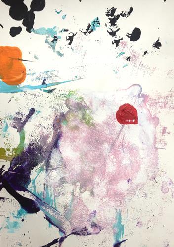 Christel Haag, Playful Days 1, Abstraktes, Gegenwartskunst, Expressionismus