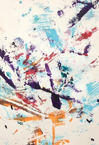 Christel Haag, Playful Days 3, Abstraktes, Gegenwartskunst