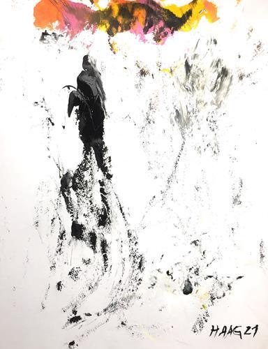 Christel Haag, Spuren im Sand, Abstraktes, Gegenwartskunst