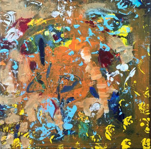 Christel Haag, Oasis, Abstraktes, Gegenwartskunst, Expressionismus