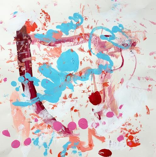 Christel Haag, Blaues Engelchen, Abstraktes, Gegenwartskunst