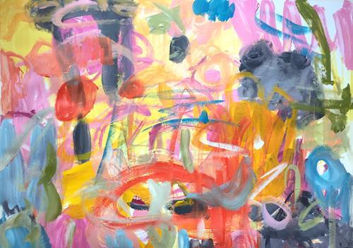 Christel Haag, Falling in Love (with his Voice) 1, Abstraktes, Natur, Gegenwartskunst