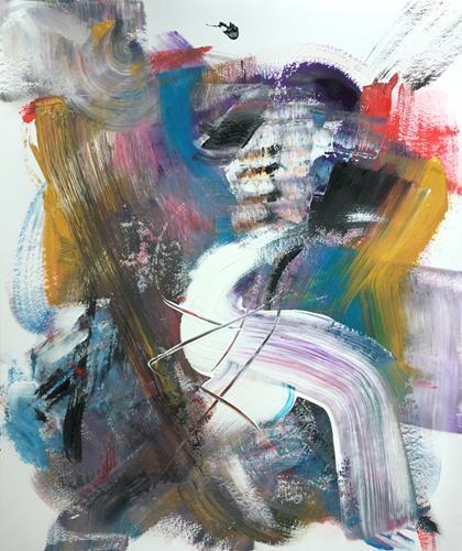 Christel Haag, What's Up 1, Abstraktes, Skurril, Gegenwartskunst