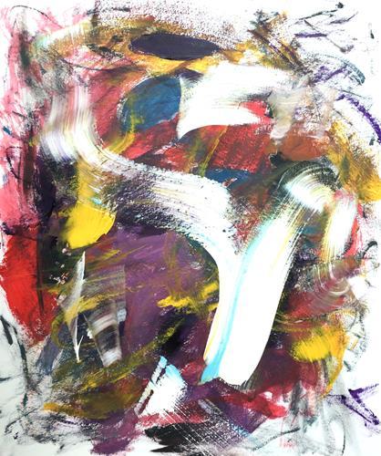 Christel Haag, What's Up 2, Abstraktes, Gegenwartskunst