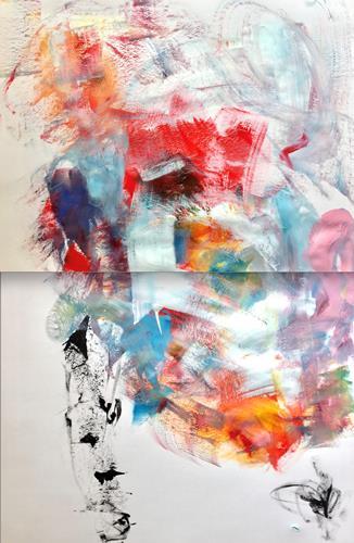 Christel Haag, Be Yourself (Diptychon), Abstraktes, Gegenwartskunst