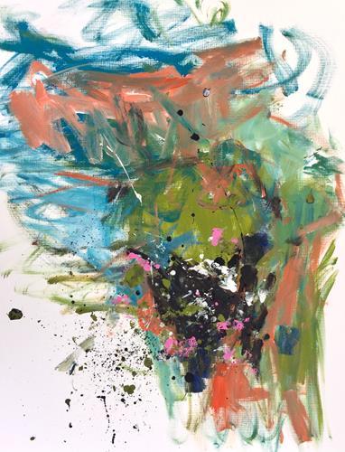 Christel Haag, Cloudy Days in Paris, Abstraktes, Abstrakter Expressionismus