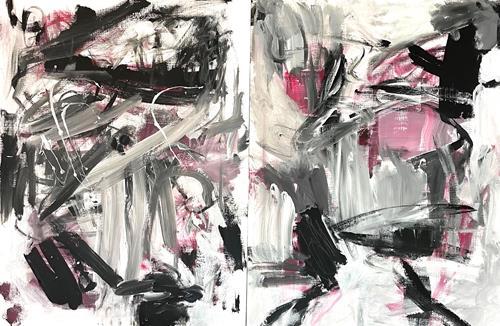Christel Haag, Embracing (Diptychon), Abstraktes, Gegenwartskunst