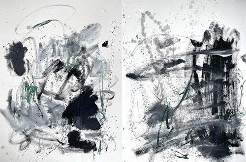 Christel Haag, It is not what it Seems (Diptychon), Abstraktes, Gegenwartskunst