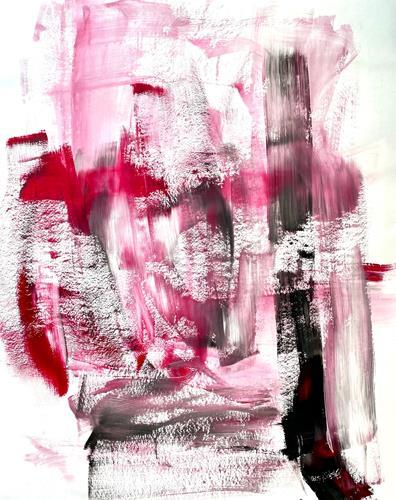 Christel Haag, Snowflakes Kissing Blossoms, Abstraktes, Gegenwartskunst, Expressionismus