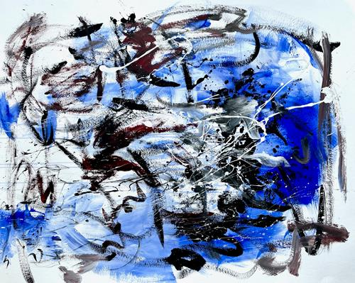 Christel Haag, Blueprint, Abstraktes, Gegenwartskunst