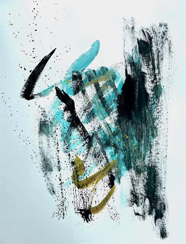 Christel Haag, Drei sind einer zu viel 3, Abstraktes, Gegenwartskunst