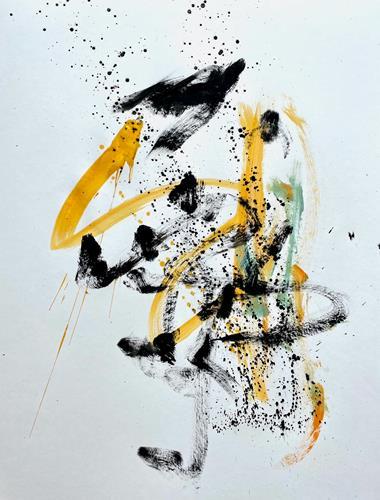 Christel Haag, Drei sind einer zu viel 1, Abstraktes, Gegenwartskunst