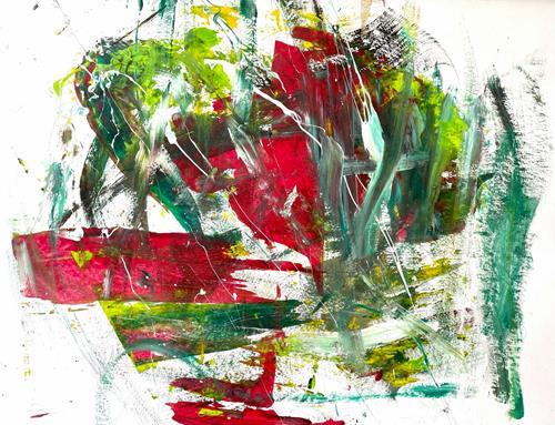Christel Haag, Power of Love 2, Abstraktes, Gegenwartskunst