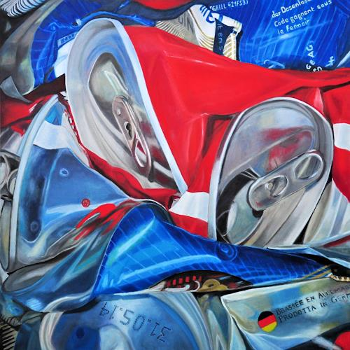 Susanne Wolf, ART OF RECYCLING, Situationen, Industrie, Fotorealismus, Abstrakter Expressionismus