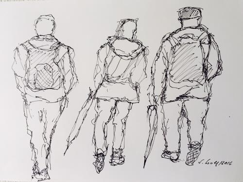 Susanne Wolf, Menschen auf der Durchreise, Menschen: Gruppe, Gegenwartskunst