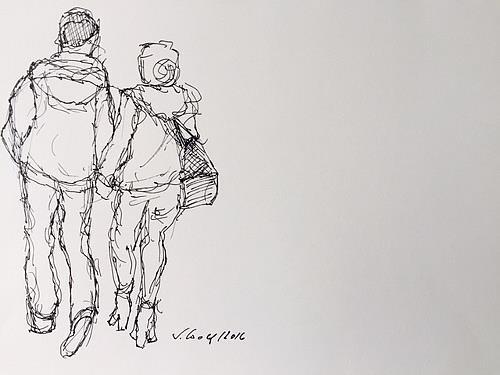Susanne Wolf, Menschen auf der Durchreise, Menschen: Paare, Body Art