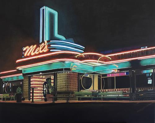 Susanne Wolf, Mels Diner, Architektur, Essen, Fotorealismus