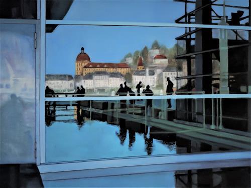 Susanne Wolf, Spiegelungen KKL Luzern, Architektur, Fotorealismus