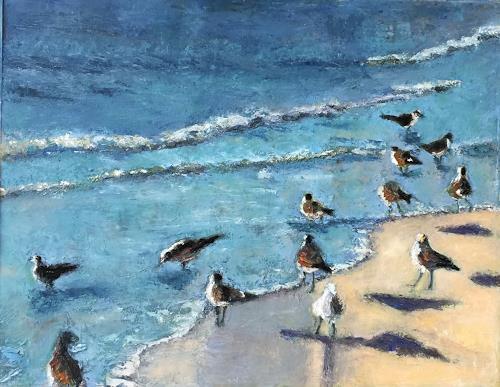 Susanne Wolf, Seagulls in Florida, Landschaft, Tiere, Gegenwartskunst