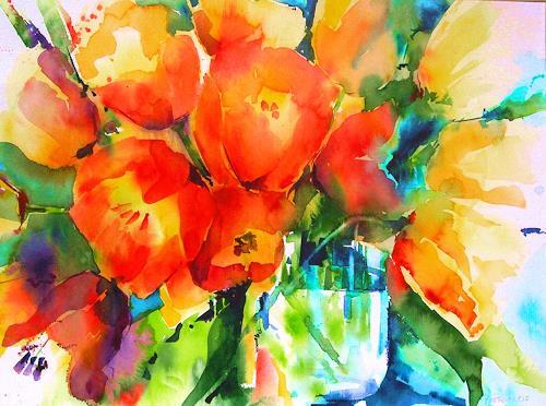 Edith Plazotta, Tulpen, Pflanzen, Naturalismus, Expressionismus