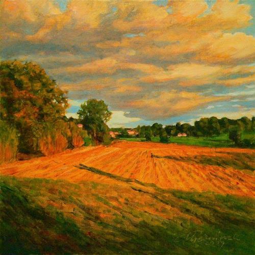 Richard Mierniczak, o.T. (French landscape), Landschaft: Sommer, Landschaft: Ebene, Gegenwartskunst, Expressionismus