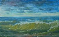 Richard-MIerniczak-Landschaft-See-Meer-Moderne-Impressionismus-Neo-Impressionismus
