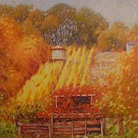 Richard-MIerniczak-Landschaft-Herbst-Natur-Erde-Moderne-Impressionismus-Neo-Impressionismus