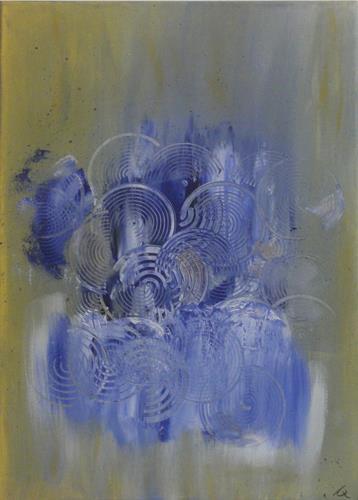 Barbara Zucker, Blaue Erscheinung, Abstraktes, Abstrakte Kunst