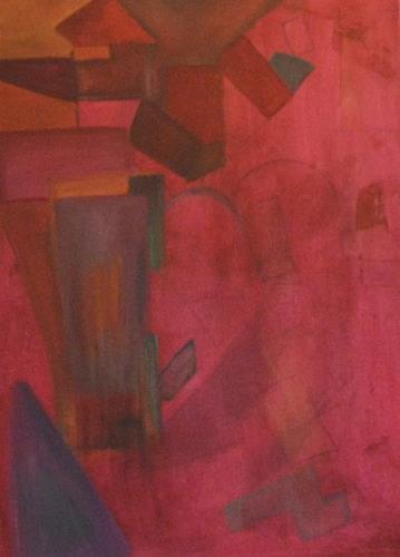 Barbara Zucker, Bunte Formen, Abstraktes, Abstrakte Kunst