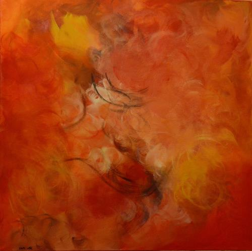 Barbara Zucker, Fire Emotion, Bewegung, Abstrakte Kunst