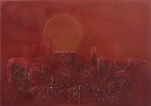 Barbara Zucker, Sonnenuntergang, Abstraktes, Abstrakte Kunst