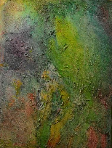 Barbara Zucker, Green Glamour, Fantasie, Abstrakte Kunst, Expressionismus