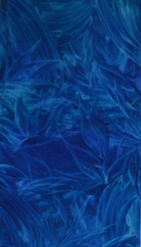 Barbara Zucker, Blumiges in Blau, Diverse Pflanzen, Abstrakte Kunst