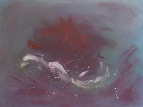Barbara Zucker, Rot-Weisse-Wellen, Abstraktes, Abstrakte Kunst