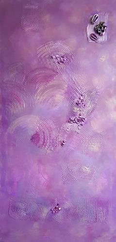 Barbara Zucker, Lila Kreis, Bewegung, Abstrakte Kunst