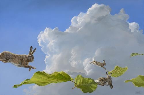 Bernd Hanrath, Luftsprünge, Tiere, Tiere, Naturalismus, Abstrakter Expressionismus
