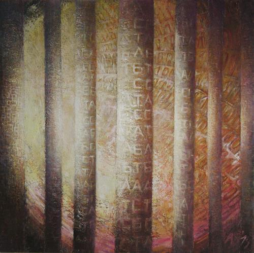 Arthur Schneid, Die Säulen der NSA, Technik, Diverses, Gegenwartskunst, Abstrakter Expressionismus